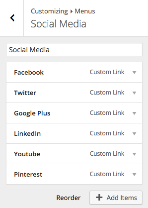 Add Social Media Icon to Default Social Media Menu