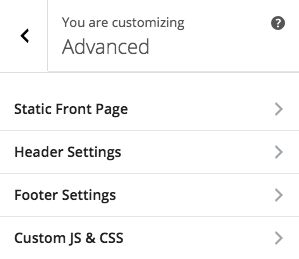 Active Footer Panel in Advanced Section