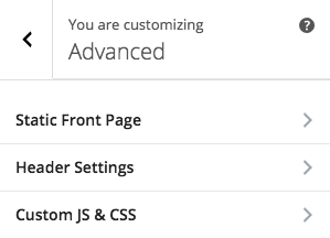 Inactive Footer Panel in Advanced Section