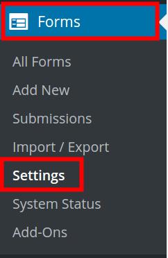 Ninja Forms Settings | BoldGrid