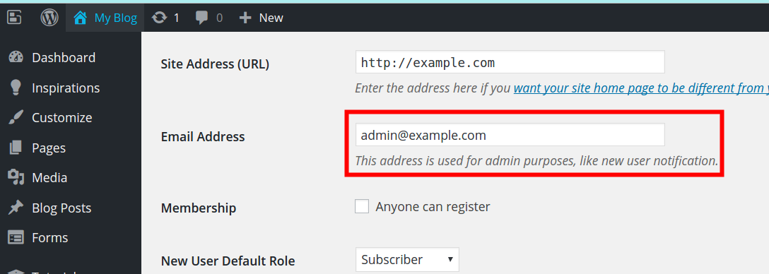 How to Modify the Email Address in Ninja Forms | BoldGrid