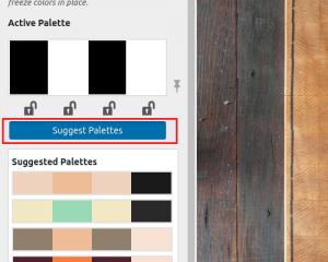 Click suggest palettes
