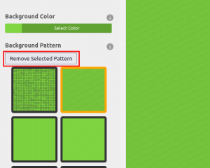 Click to Remove Selected Pattern