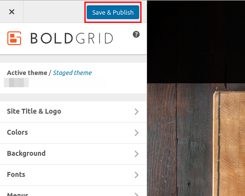 how to change logo and title in wordpress