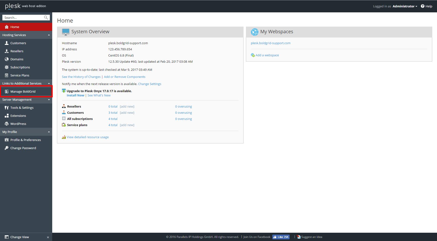 How to Install BoldGrid in Plesk 12.5 Web Host | BoldGrid
