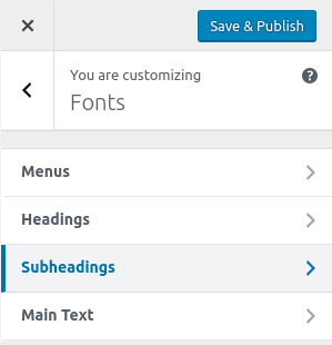 how to change post font family in wordpress