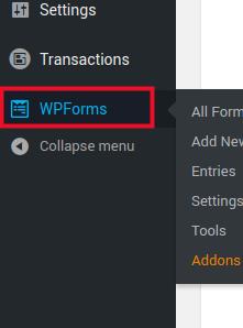 Click WPForms