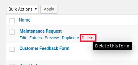 Click Delete
