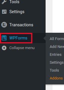 Select WPForms