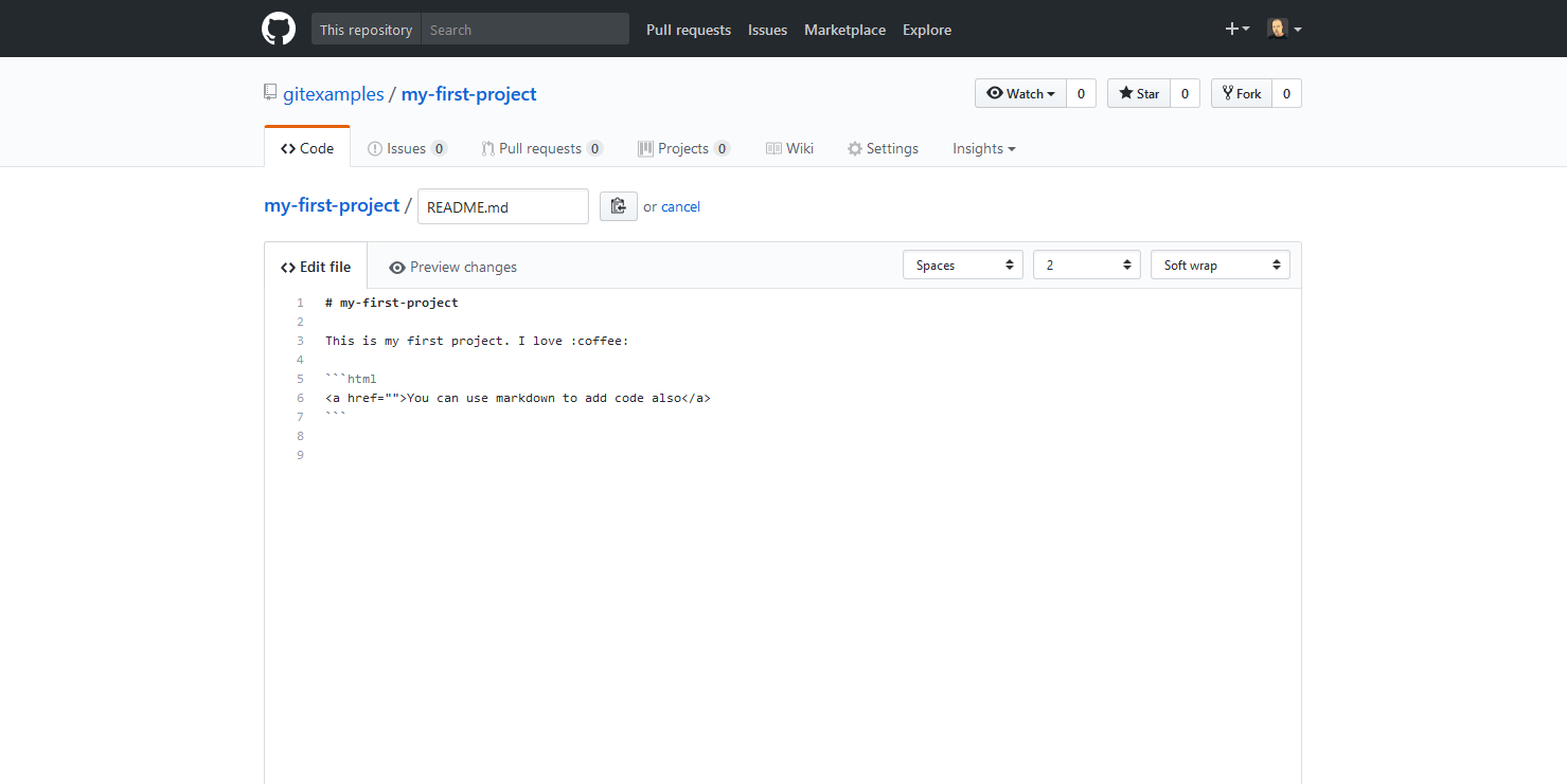 How to Commit a File Change on a GitHub Repository