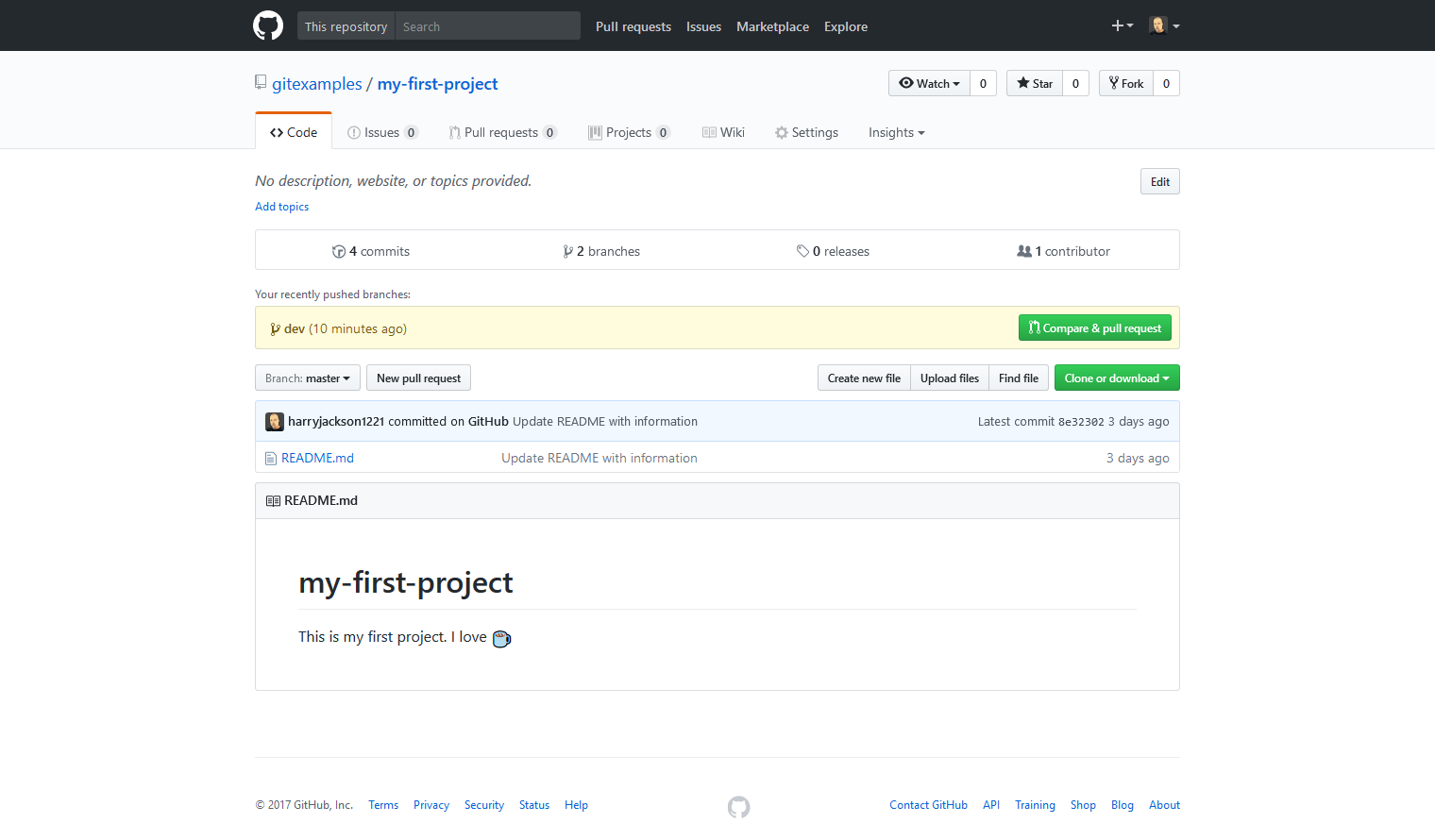 How to Create a Pull Request on a GitHub Repository