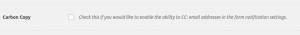 Email tab CC option