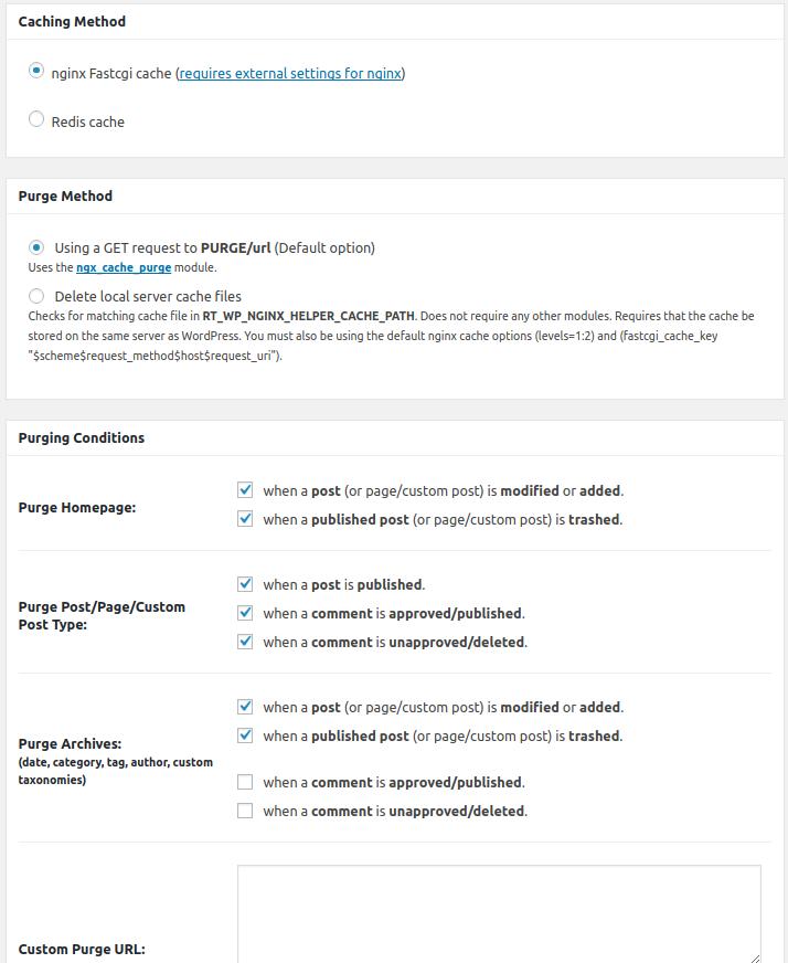 Enabling Purge in the NGINX Helper Plugin | BoldGrid