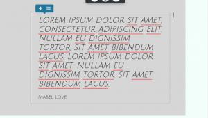 BoldGrid Editor view of post