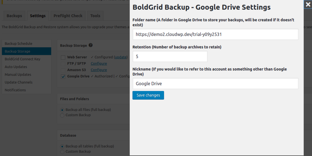 Using A Wordpress Plugin To Backup To Google Drive