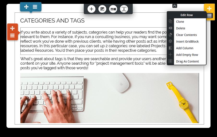 Blog WYSIWYG Features