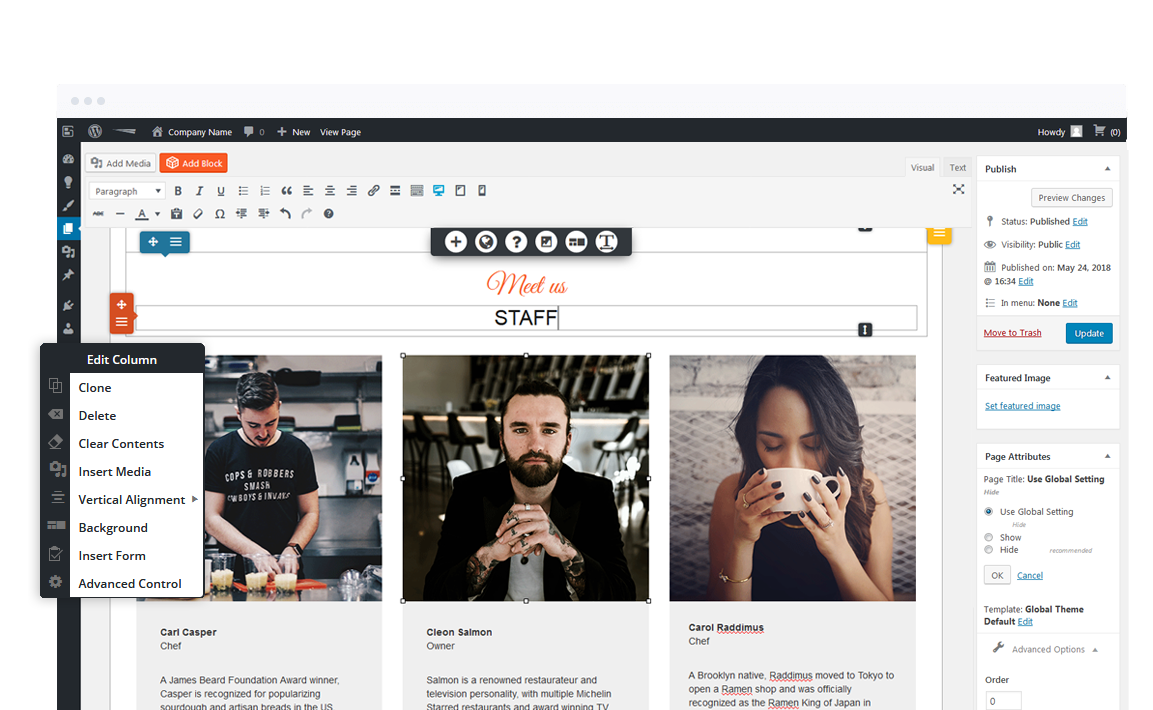 BoldGrid's WordPress page builder plugin is the fastest way to create page layouts with WordPress.
