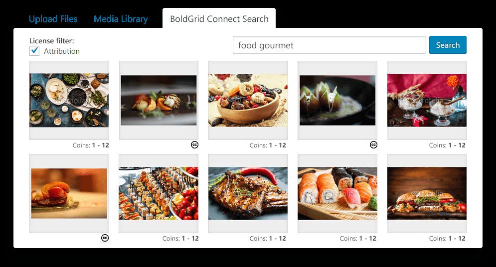 BoldGrid offers free premium images