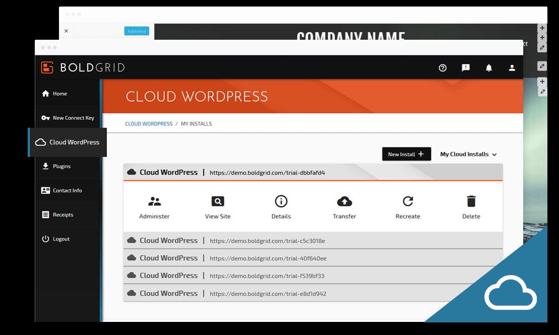 BoldGrid Cloud WordPress