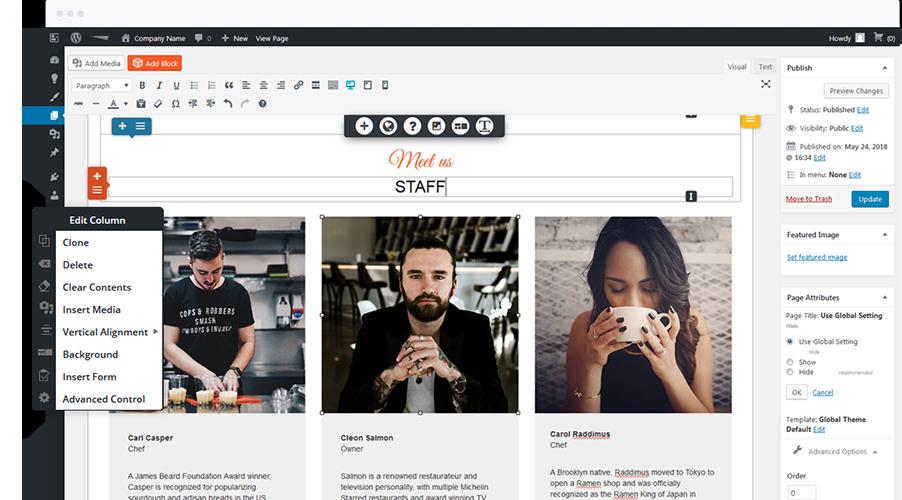 wordpress-drag-and-drop-editor