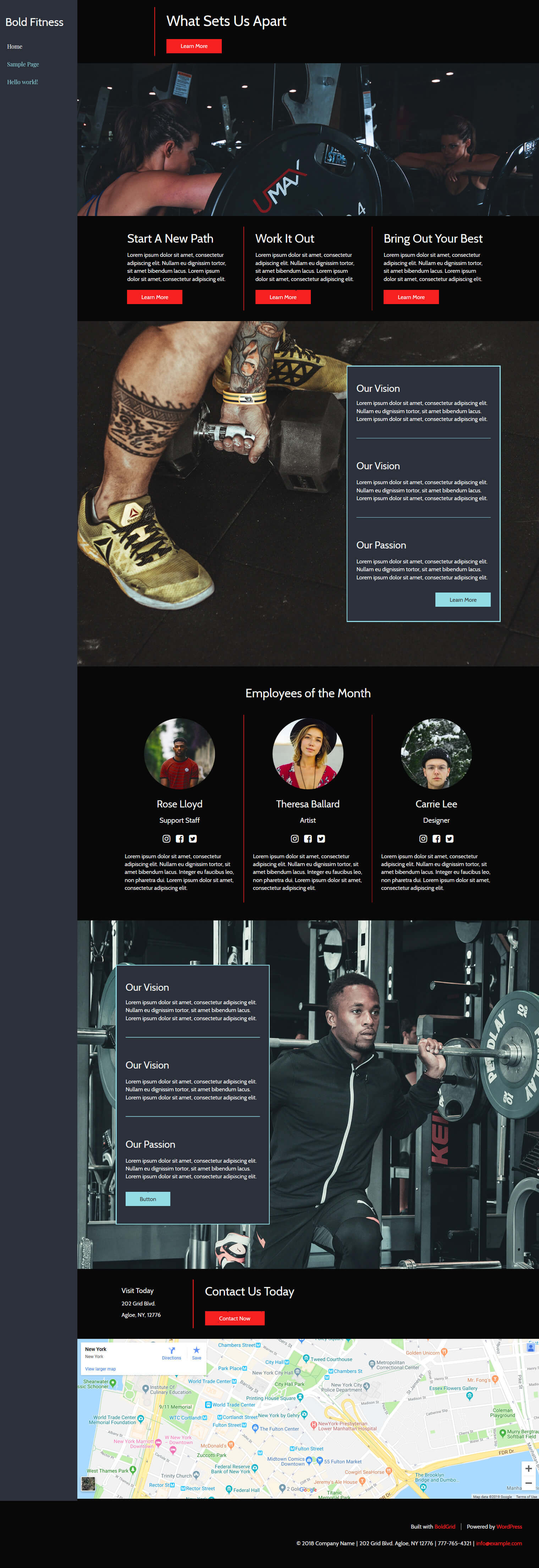 wordpress fitness theme