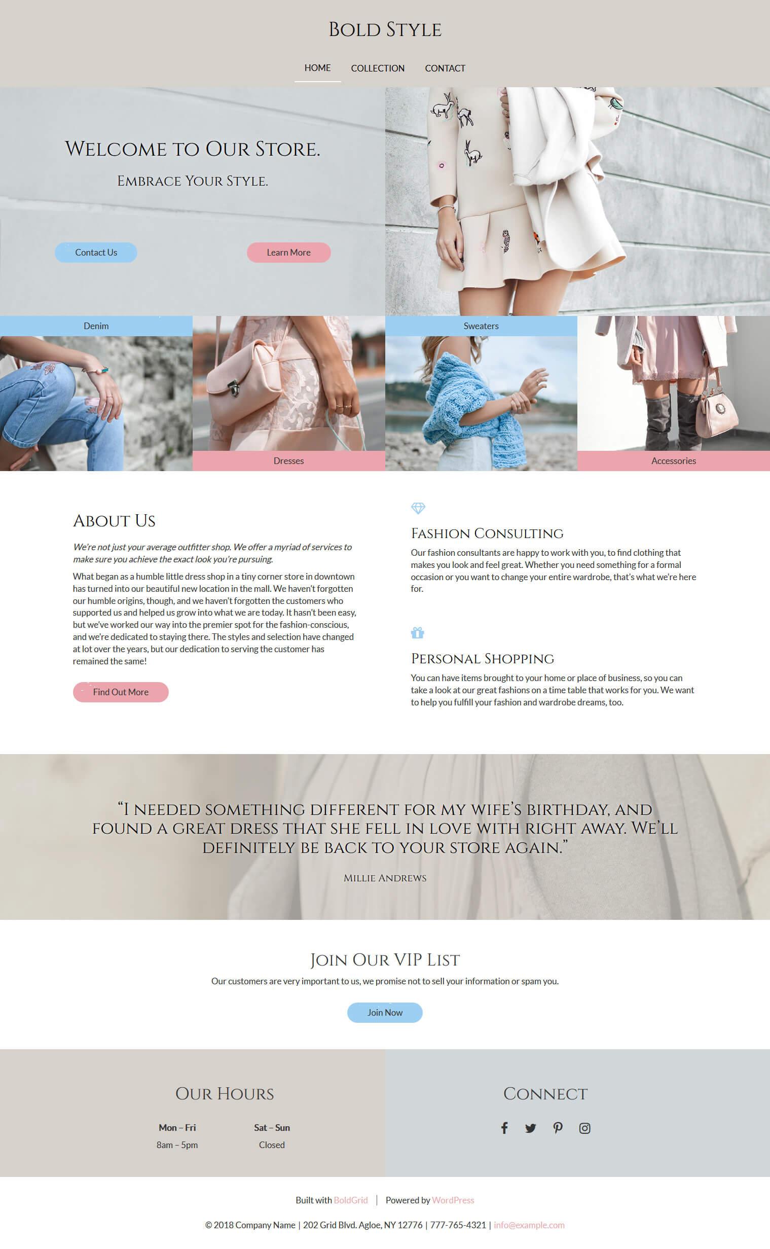 wordpress fashion theme