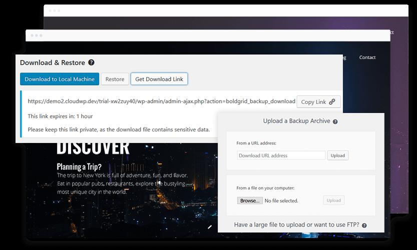 website migration with BoldGrid