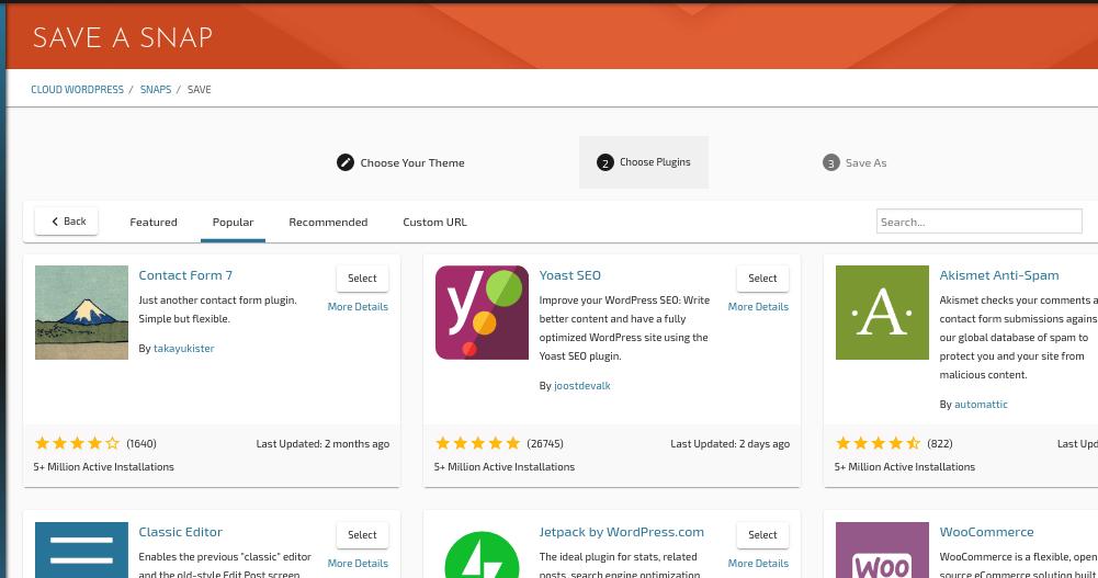 Choosing Plugins for a WordPress Testing Snap