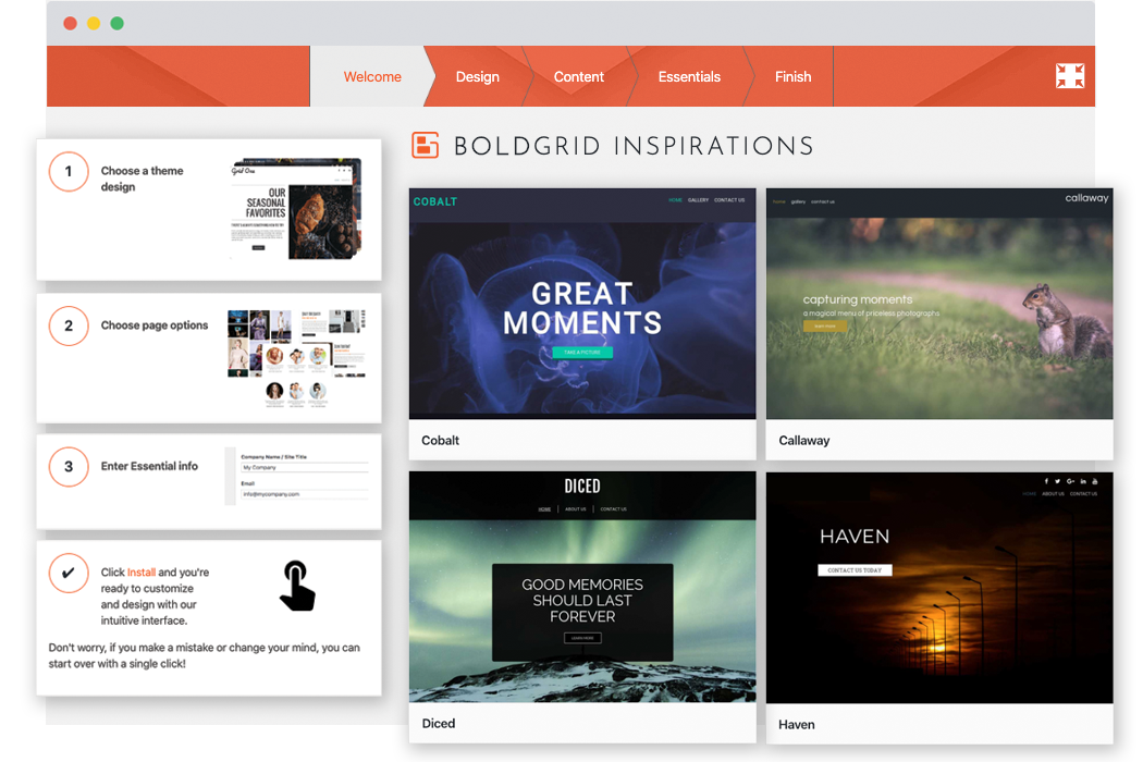 BoldGrid Inspirations - A WordPress Website Builder