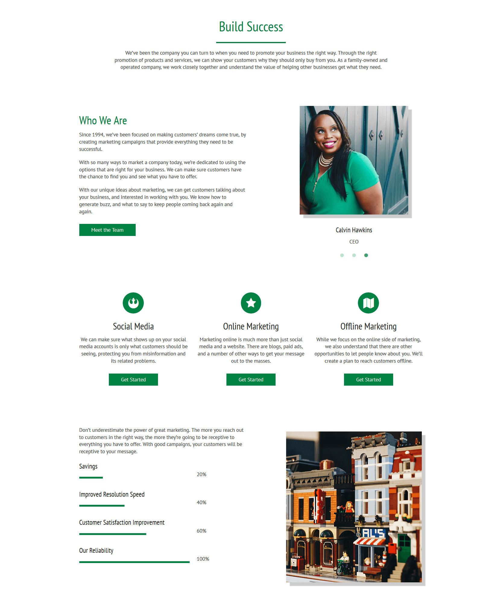 Showing off our new Premium WordPress Block Layout - complete with a content slider for images.